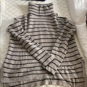 Madewell grey and black striped  Turtleneck